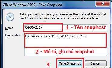 Hướng dẫn sử dụng snapshot cơ bản trong VMware - Ảnh 3.