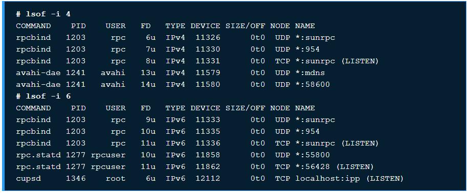 10 ví dụ sử dụng chương trình lệnh lsof trên Linux - Ảnh 4.