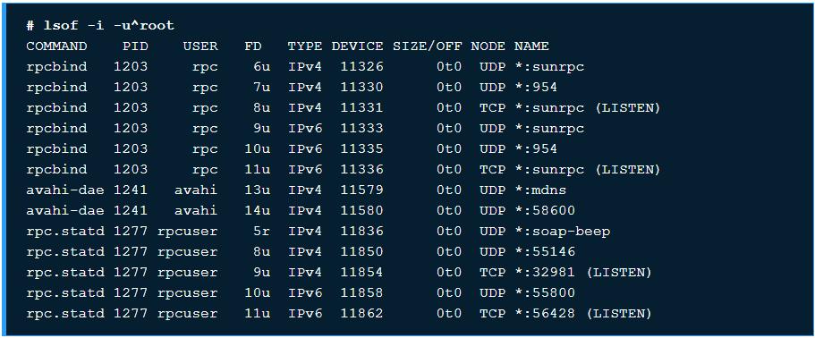 10 ví dụ sử dụng chương trình lệnh lsof trên Linux - Ảnh 5.