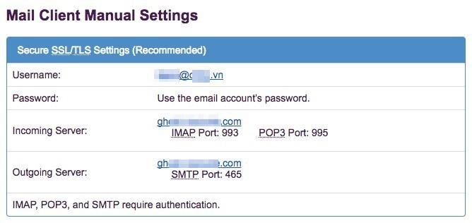 Hướng dẫn cài đặt email tên miền riêng trên các hệ điều hành - Ảnh 3.