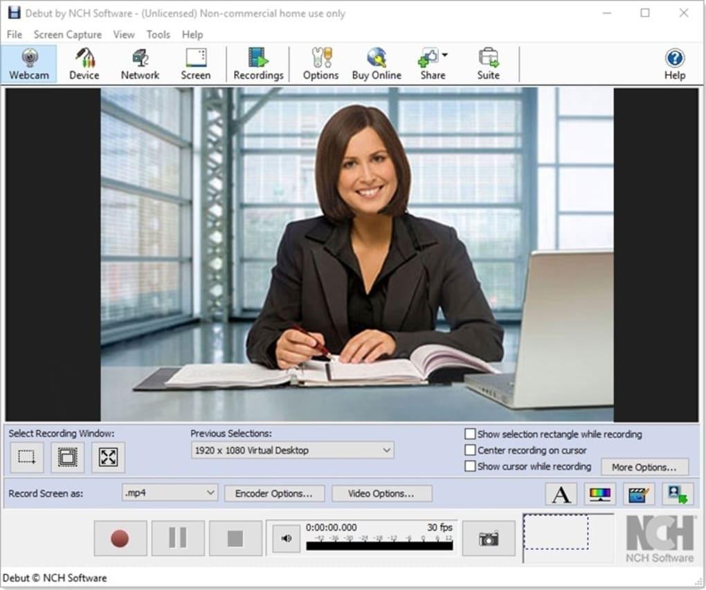 Phần mềm quay màn hình Debut VideoCapture