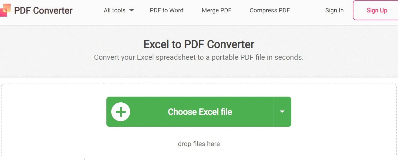 Click vào mục Choose Excel File để lựa chọn file Excel muốn chuyển