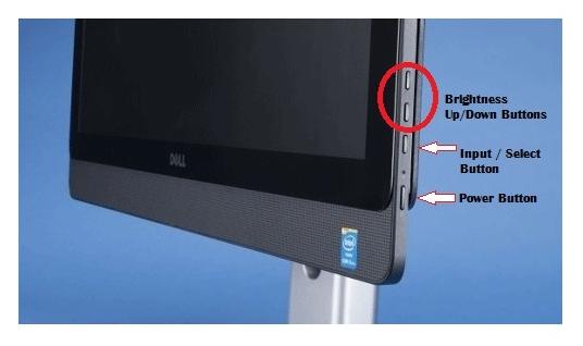 Điều chỉnh khả năng chiếu sáng màn hình hiển thị máy vi tính bằng phím cứng vật lý