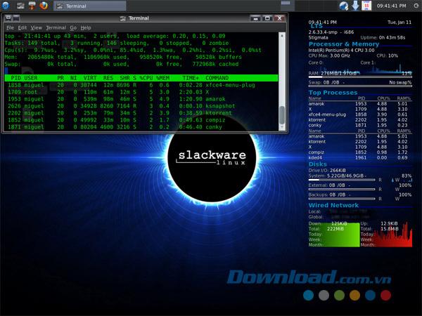Slackware-linux-giao-dien