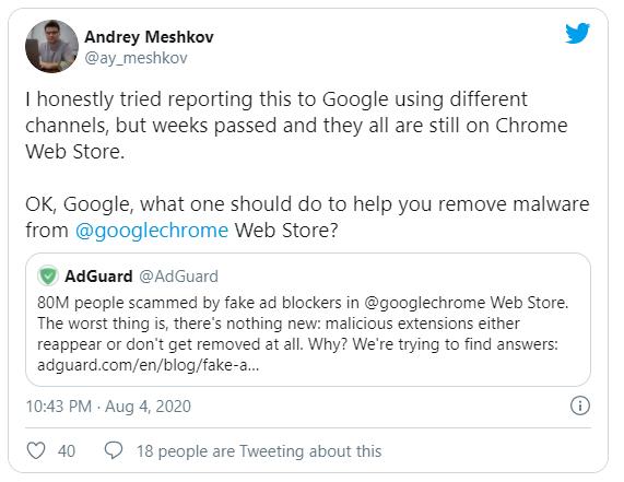Google gỡ bỏ 295 tiện ích mở rộng trên Chrome store do có chứa mã độc gây nguy hại tới người dùng - Ảnh 1.