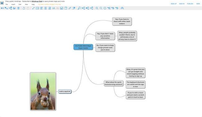 Phần mềm vẽ sơ đồ tư duy MindMup