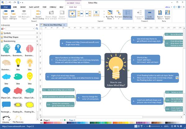 Phần mềm vẽ sơ đồ tư duy Edraw Mind Map