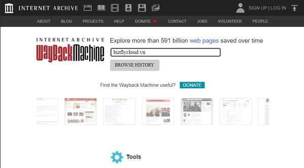 Truy cập các phiên bản cũ qua The Internet Archive khi website bị quá tải