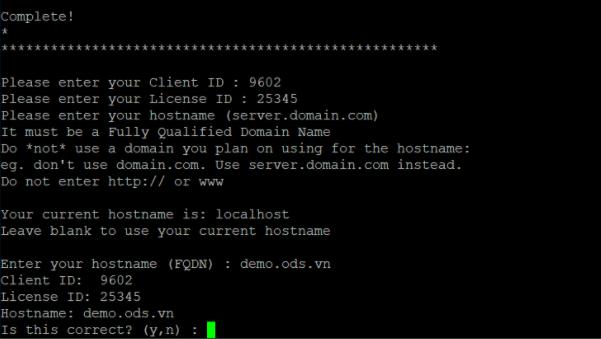 Các bước cài đặt DirectAdmin trên máy chủ Cloud Server Linux - Ảnh 5.