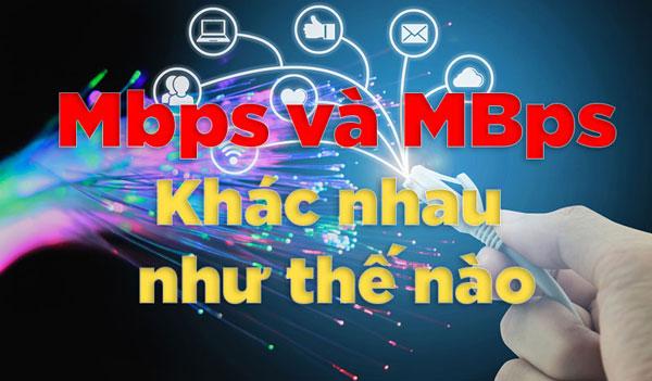 Phân biệt giữa MBps và Mbps