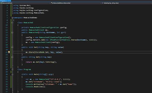 Sử dụng Memcached trong C#-1