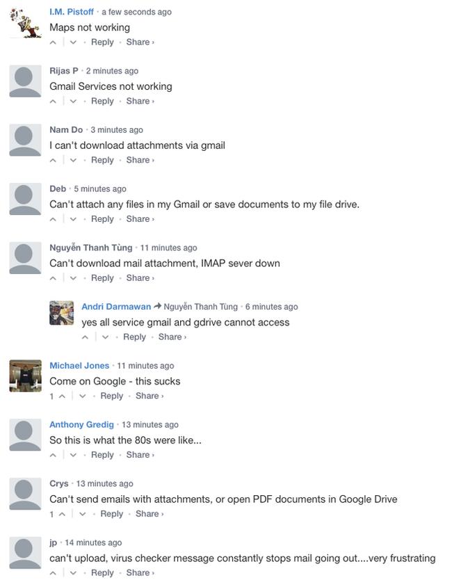 Gmail, Drive, Youtube và nhiều dịch vụ khác của Google gặp sự cố - Ảnh 2.