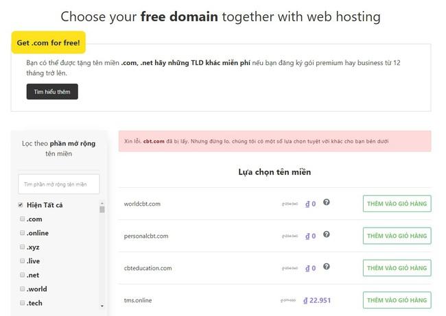 Top 6 website cung cấp tên miền miễn phí - Ảnh 2.
