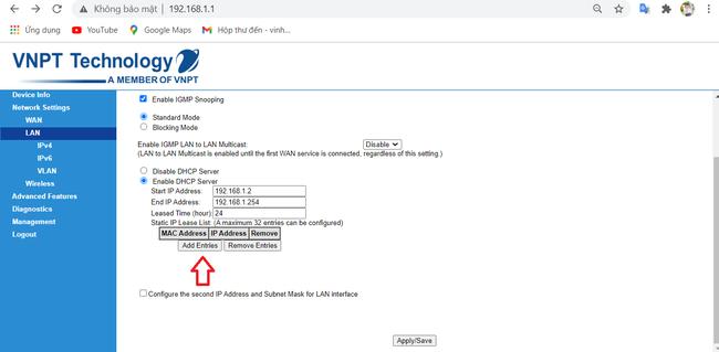 Cách cài đặt IP tĩnh cho thiết bị trên router wifi mạng VNPT đơn giản nhất - Ảnh 10.