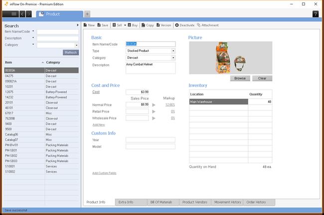 Phần mềm quản lý kho InFlow On - Premise