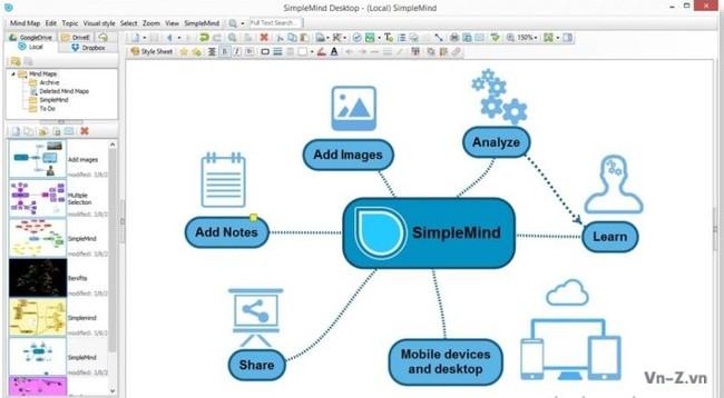 Phần mềm vẽ sơ đồ tư duy SimpleMind Desktop