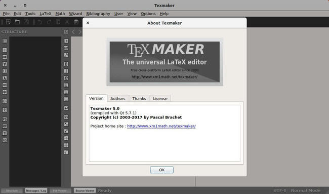 phần mềm soạn thảo văn bản Texmaker