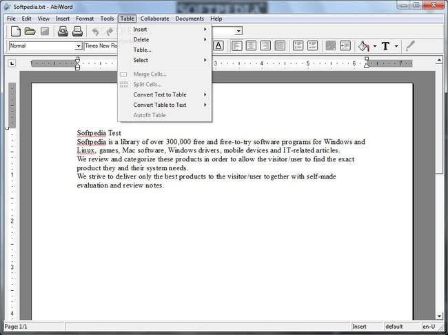 Phần mềm soạn thảo văn bản AbiWord Portable