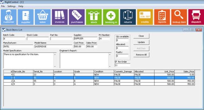 Phần mềm quản lý kho RightControl