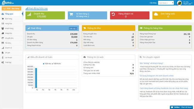 Phần mềm quản lý kho Suno