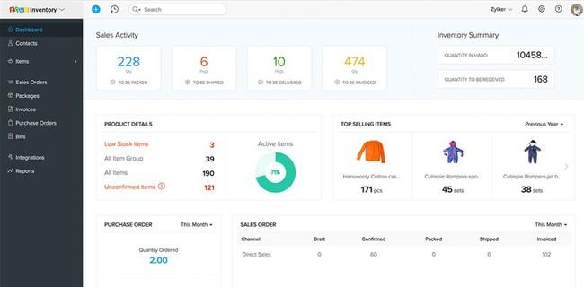 Phần mềm quản lý kho Zoho Inventory