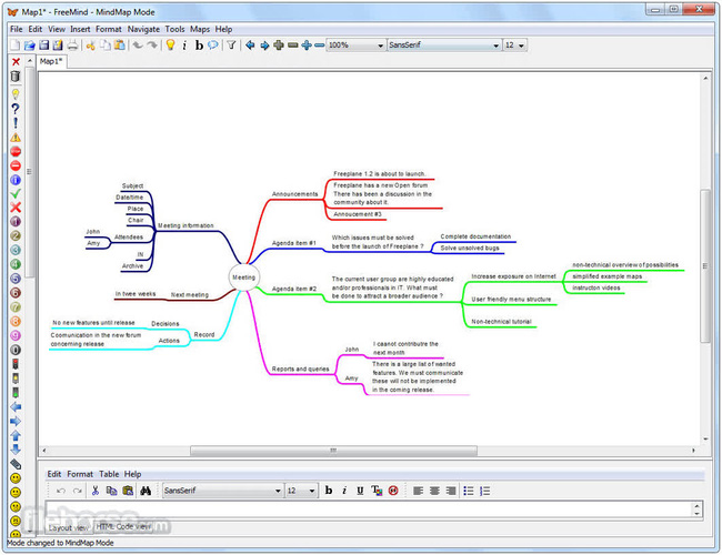phần mềm vẽ sơ đồ tư duy FreeMind