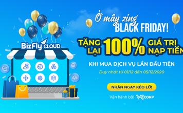 SIÊU KHUYẾN MÃI THÁNG 12: Tặng 100% giá trị nạp tiền lần đầu tiên tất cả cá dịch vụ: Cloud Server, CDN, Business Email...