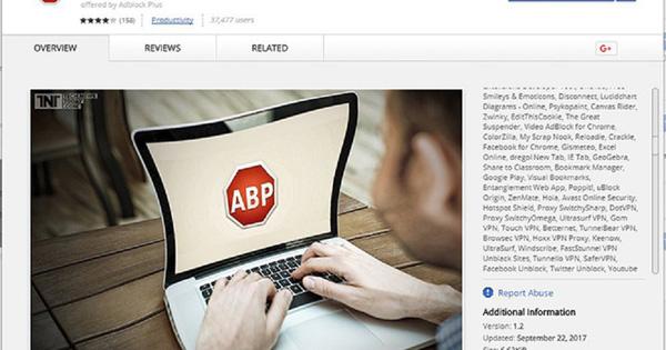 [Cảnh báo] Tiện ích AdBlock Plus giả mạo xuất hiện trên Chrome Web Store