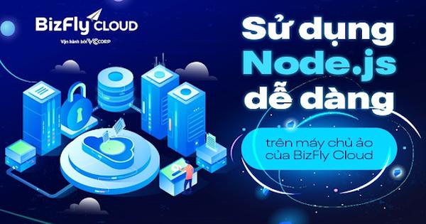 Sử dụng Node.js dễ dàng cho lập trình viên trên máy chủ ảo của BizFly Cloud