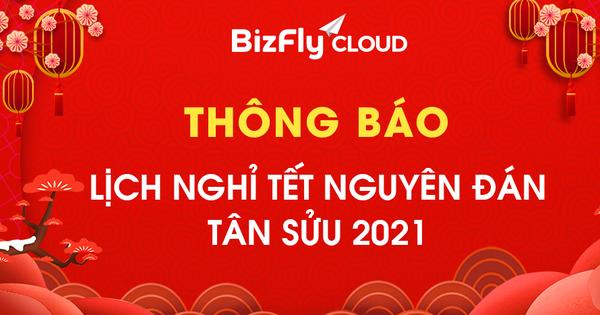 BizFly Cloud thông báo Lịch nghỉ Tết Nguyên Đán Tân Sửu