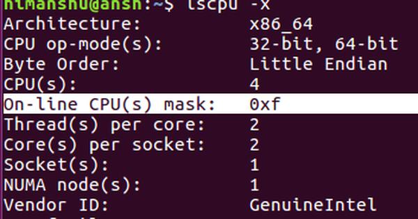 Các lệnh thường sử dụng để xem thông tin phần cứng trong Linux