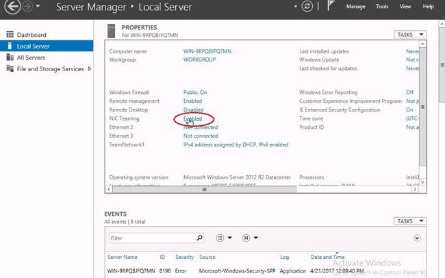 Cấu hình NIC Teaming và VLAN ID trên Window Server
