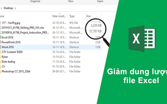 5 cách giảm dung lượng file Excel nhanh chóng và đơn giản